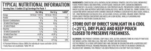 Cookie Delight - Birthday Cake Nutritional Information