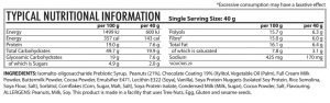 Lifestyle Snacker - Chocolate Peanut Butter Crunch - Nutritional Information