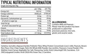 Gourmet Protein Cookies - Triple Chocolate Brownie - Nutritional Information